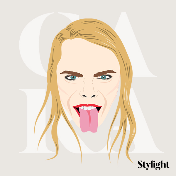 Stylight Cara Delevingne birthday tongue funny faces